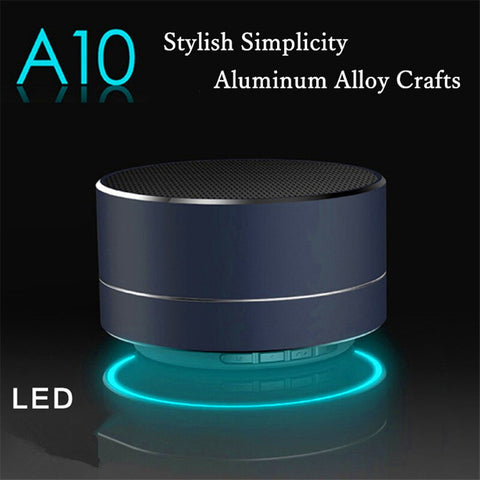 Image of Mini Modern Aluminum Alloy LED Light Wireless Bluetooth Speaker Calls Handsfree