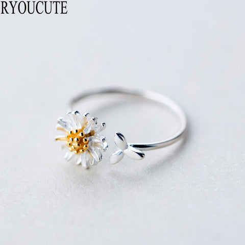 Image of Daisy Flower Rings for Women Adjustable Size Ring