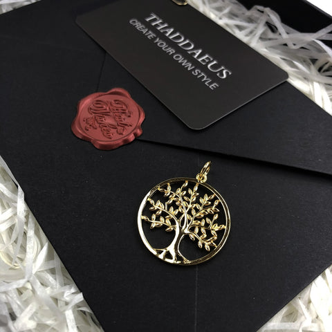 Image of Pendant Golden Tree 925 Sterling Silver