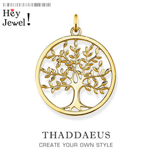 Pendant Golden Tree 925 Sterling Silver