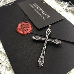 Pendants Royalty Cross Colorful Victorian 925 Sterling Silver
