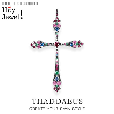 Image of Pendants Royalty Cross Colorful Victorian 925 Sterling Silver