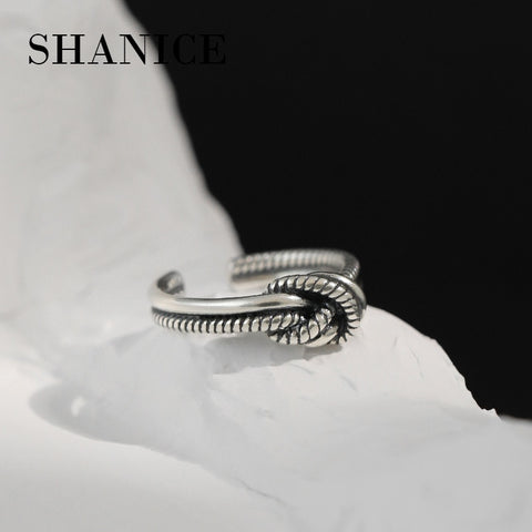 Image of SHANICE 925 Sterling Silver Thai Silver Knot Ring