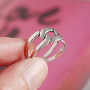 925 Sterling Silver Open Ring Women Lady Ring