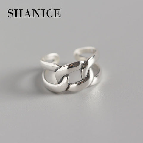 Image of 925 Sterling Silver Open Ring Women Lady Ring