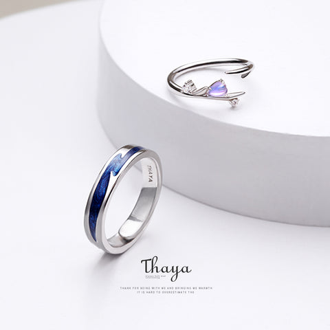 Adjustable Couple Rings 925 Silver Chromatic Rings