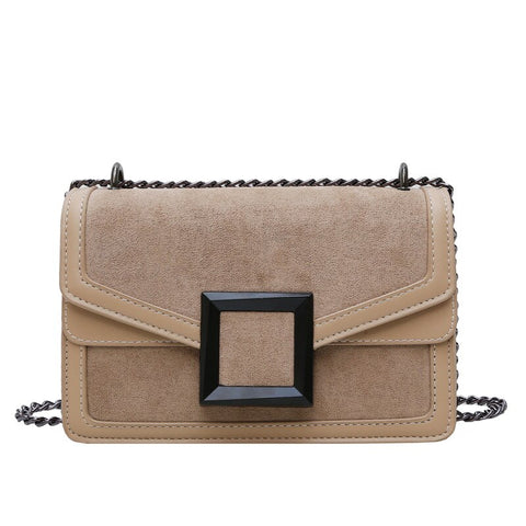 Vintage Fashion Female Square Bag High Quality Matte PU Leather