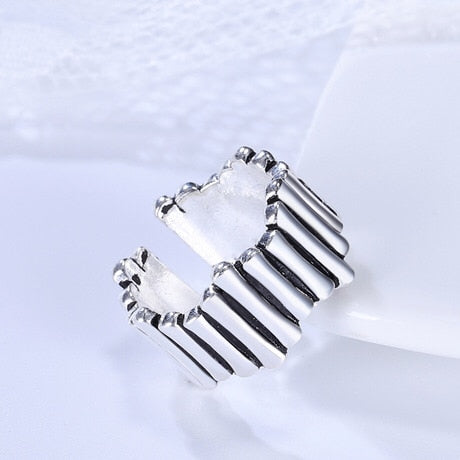 Vintage Silver Color Open Ring