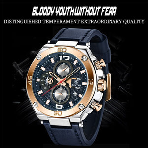 Watch Men BENYAR Fashion Sport Quartz Clock Mens Watches Top Brand Luxury
