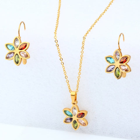 Image of Jewelry Sets For Women Necklace Earrings Set Summer Fashion jewellery Accessories