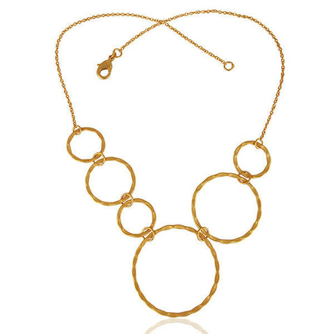Image of Fashion Chain Necklace 18k Gold Plated Designer Brass