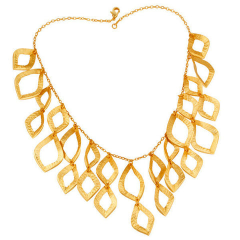 Image of 18K Gold Plated Brass Necklace Wedding Designer