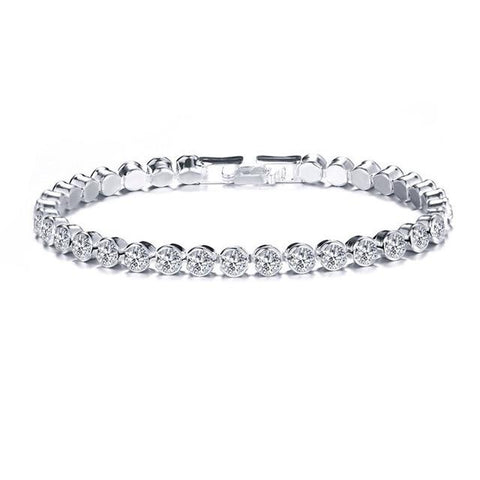 Image of Luxury Crystal Bracelet For Women Wedding Gift