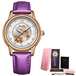 SUNKTA Fashion Women Watches Ladies Bracelet Watch Casual Ceramic
