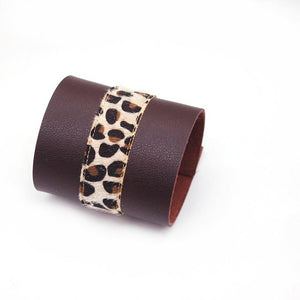 Leather Leopard Charm Bracelet Style Fashion Luxury Unisex