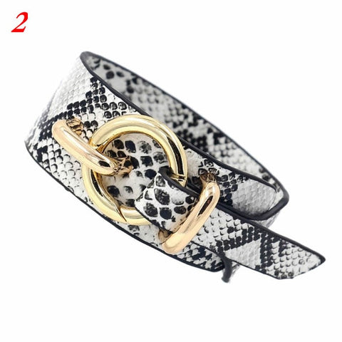 Leopard Bangle Bracelets For Women Boho Belt Buckle