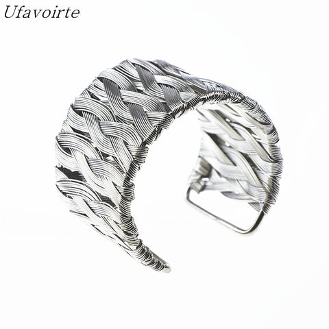 Image of Fashion Gold/Silver Cuff Bracelets & Bangles For Women