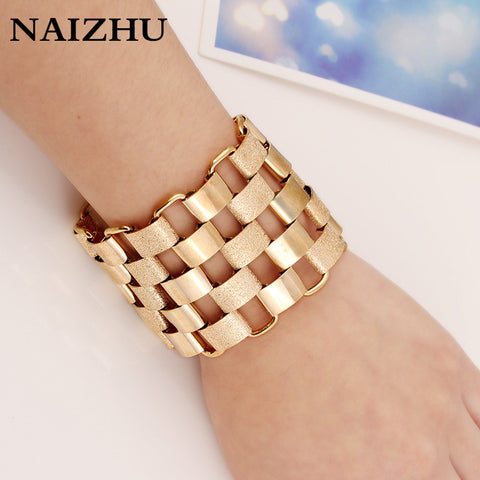 Image of New Fashion Bijoux Bracelets For Women Accessories Gold Color