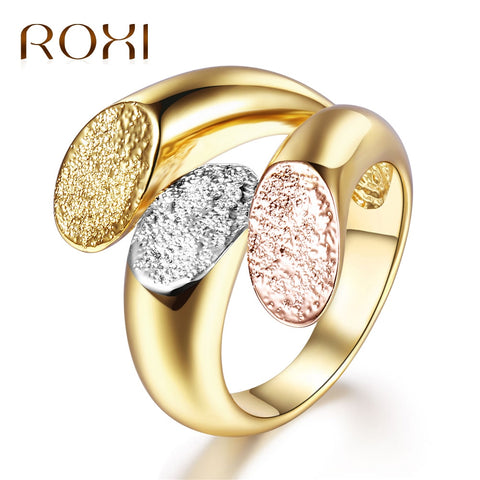 ROXI Charm Personalized Gold Color Cocktail Party Wide Rings for Women t