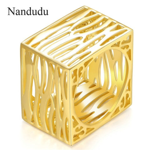 Image of Nandudu New Arrival Square Style Ring Men Women Unisex Fashion Rings