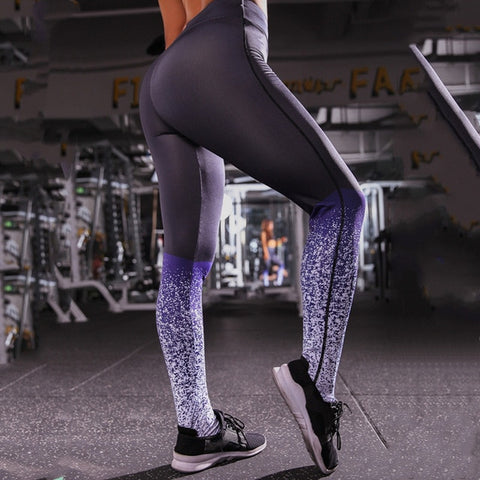Image of Women Fitness Seamless Leggings High Waist Workout Leggings Sporting