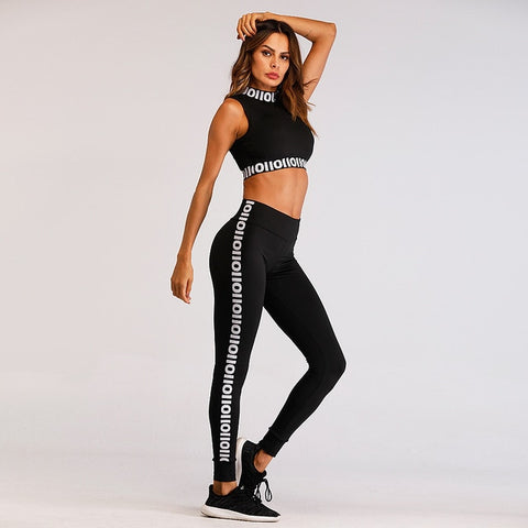 Image of Tracksuit Tights Sportswear Fitness Yoga Suit Sport Set For Female Gym