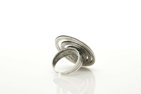 Silver Plated Adjustable Ring Handmade