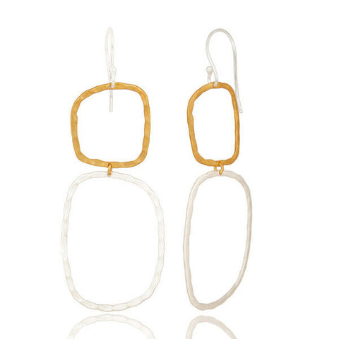 14K Yellow Gold Plated Silver Plated Handmade Fashion Design Earrings