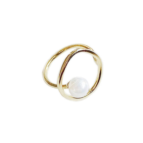 S'STEEL 925 Sterling Silver Rings For Women Pearl Gold Ring