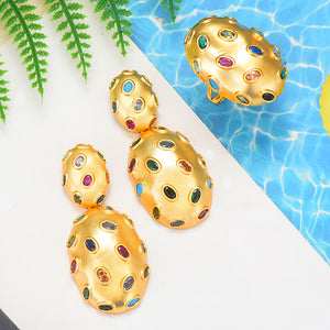 GODKI 2019 Trendy Charms DUBAI Statement Earring Ring Jewelry Set