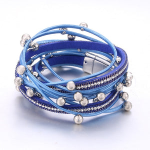 Fashion Rhinestone Bracelet Magnet Bracelet 7 colors