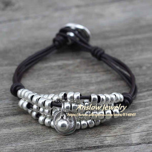 Anslow Beaded Strands Wrap Bracelet