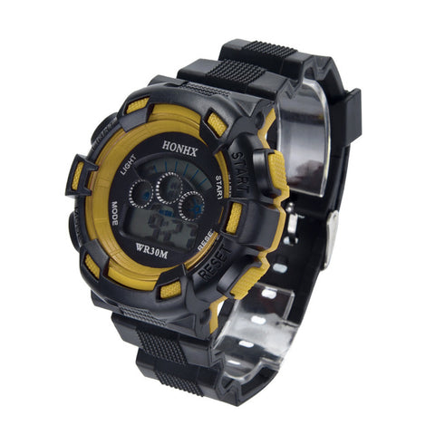Image of Waterproof Children Boys Three eye camouflage electronic watch Digital LED