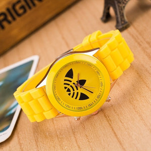 Luxury brand sports watch jelly silicone quartz watch
