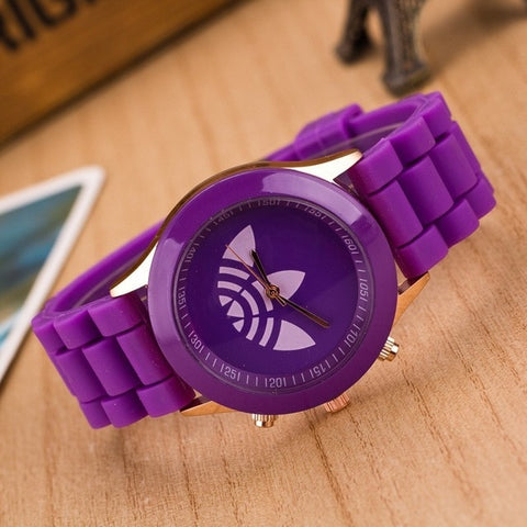 Image of Luxury brand sports watch jelly silicone quartz watch