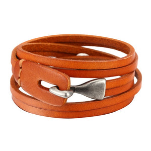 3 Colors Multilayer Charm Leather Bracelet