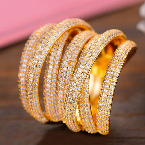 Image of GODKI Monaco Design Luxury Twist Stacks Stackable Ring