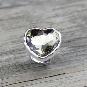 Anslow Big Heart Crystal Ring