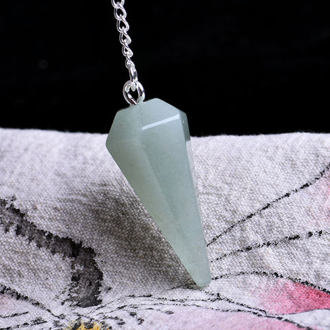 100%Natural Rock cone pendant aura chakra cutting DIY pendant necklace crystal stonedecoration gift stone