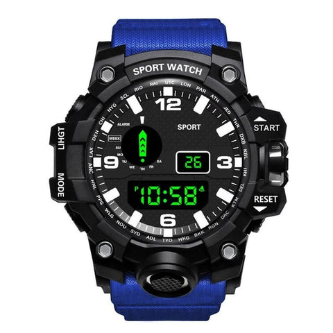 Fashion Mens Watches Waterproof Men's Boy LCD Digital Stopwatch Date Rubber Sport Wrist Watch Waterproof Relogio Clock reloj Q7