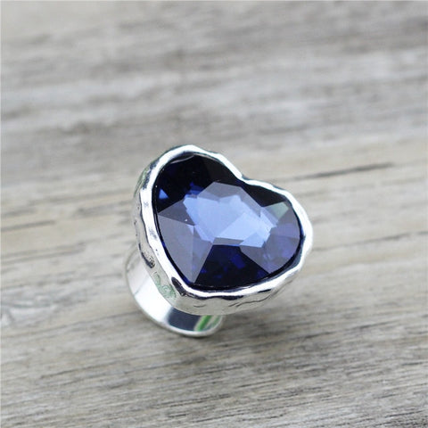 Image of Anslow Big Heart Crystal Ring
