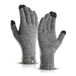 Brand New Delicate Knit Gloves Men Women Winter Touch Screen Simple Solid Color