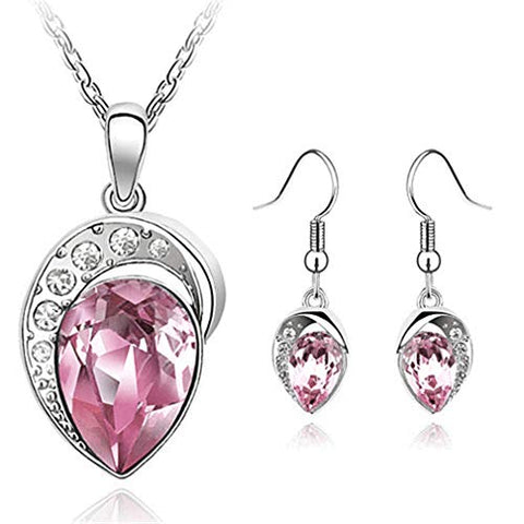Image of Fashion Accessories Wedding Jewelery Sets for Women Silver Color