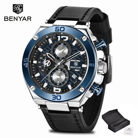 Image of Watch Men BENYAR Fashion Sport Quartz Clock Mens Watches Top Brand Luxury