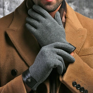 Winter Spring Fashion cloth stretch cotton Men wrist plush comfortable gloves