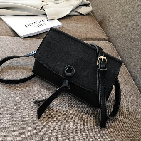 Image of Retro Fashion Square Crossbody bag High Quality Matte PU Leather