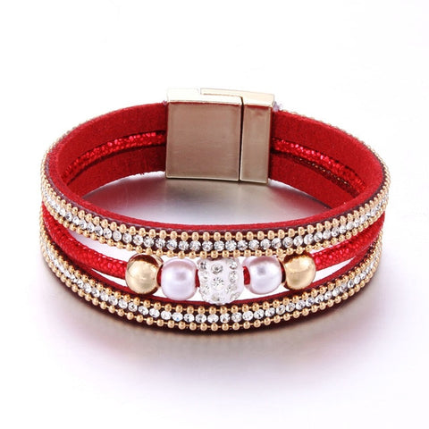 Image of Fashion Rhinestone Bracelet Magnet Bracelet 7 colors