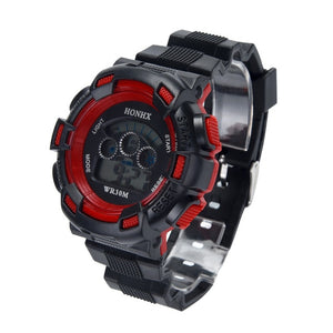 Waterproof Children Boys Three eye camouflage electronic watch Digital LED
