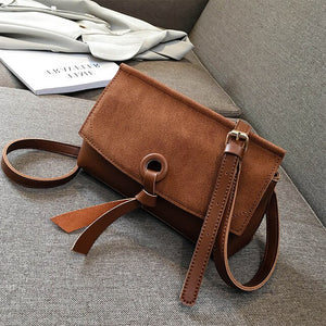 Retro Fashion Square Crossbody bag High Quality Matte PU Leather