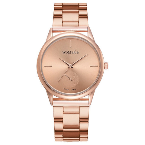 Women Watches Simple Rose Gold Watch